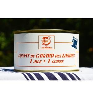 CONFIT DE CANARD GRAS DES LANDES 1 AILE + 1 CUISSE