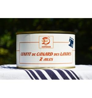 CONFIT DE CANARD GRAS DES LANDES 2 AILES