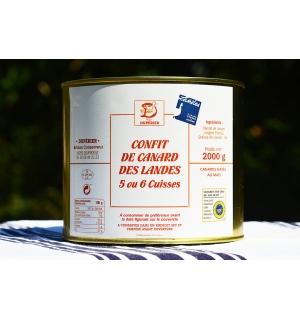 CONFIT DE CANARD GRAS DES LANDES 5/6 CUISSES
