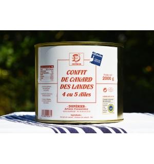 CONFIT DE CANARD GRAS DES LANDES 4/5 AILES