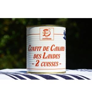 CONFIT DE CANARD GRAS DES LANDES 2 CUISSES