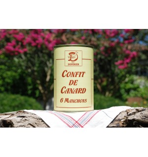CONFIT DE CANARD GRAS 6 MANCHONS