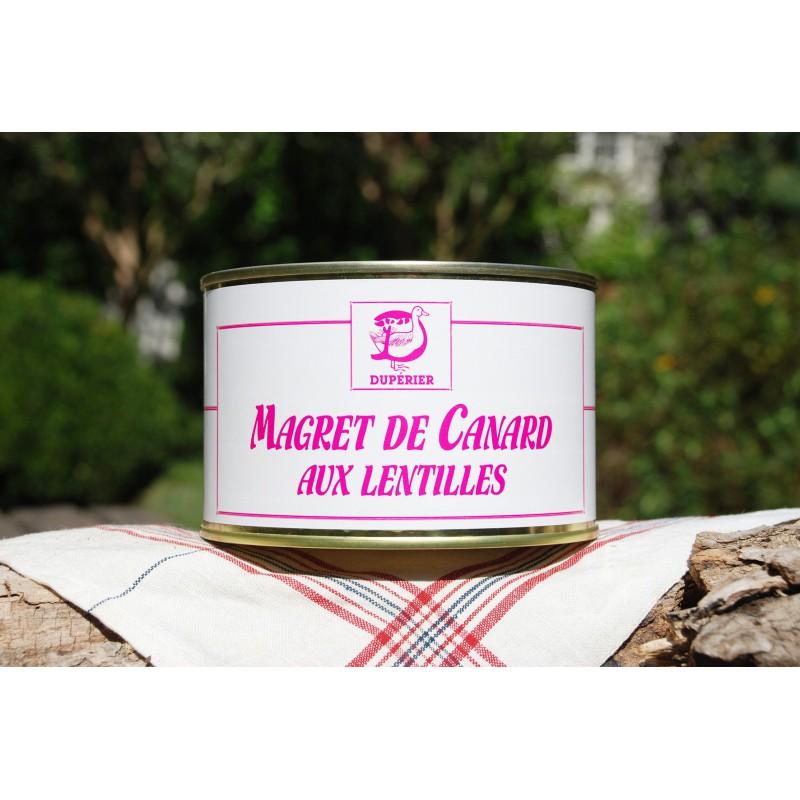 MAGRET DE CANARD AUX LENTILLES