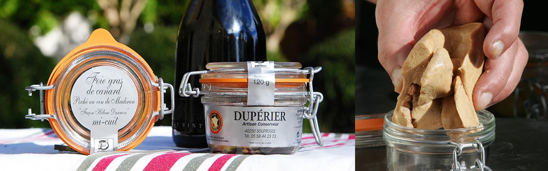 Foie gras de canard mi-cuit poché au vin de Madiran